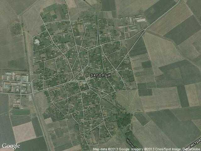 Сателитна карта на Загорци
