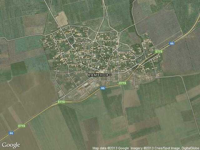 Сателитна карта на Каменово