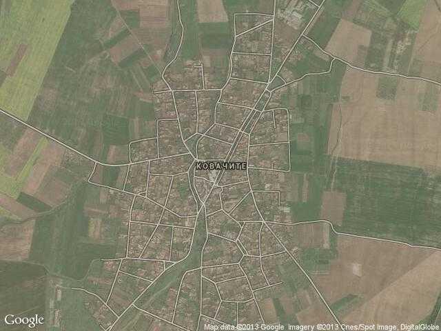 Сателитна карта на Ковачите