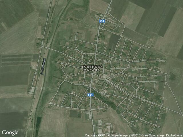 Сателитна карта на Любенова махала