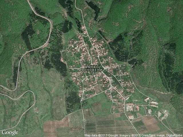 Сателитна карта на Малко Чочовени