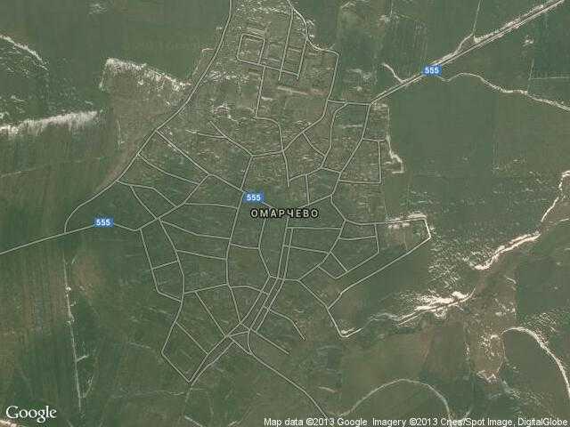 Сателитна карта на Омарчево