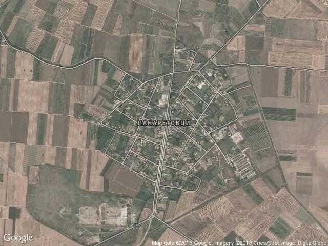 Сателитна карта на Панаретовци