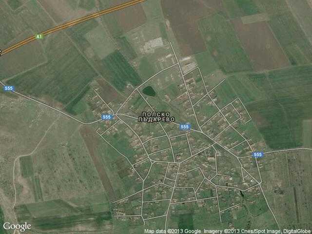 Сателитна карта на Полско Пъдарево