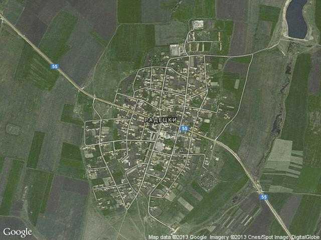 Сателитна карта на Радецки
