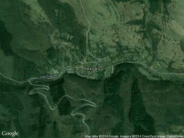 Сателитна карта на Раково