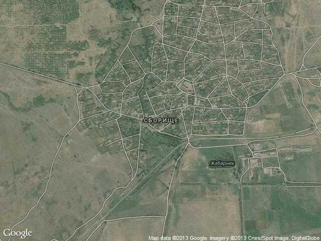 Сателитна карта на Сборище