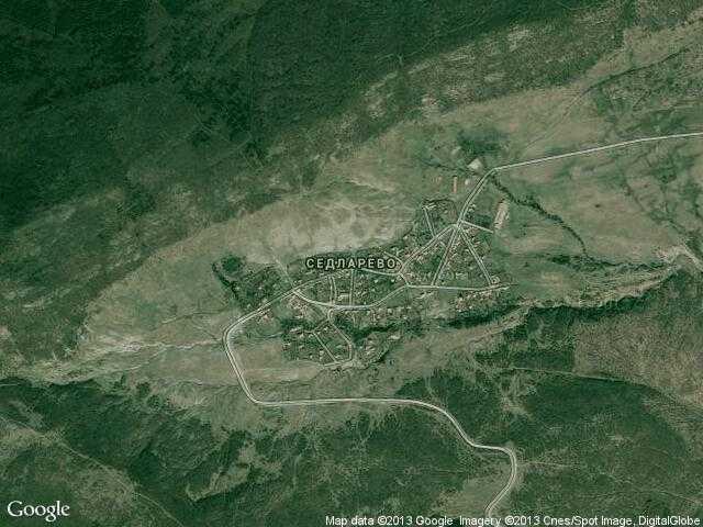 Сателитна карта на Седларево