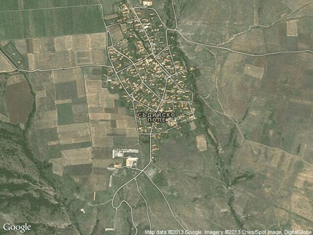 Сателитна карта на Съдийско поле