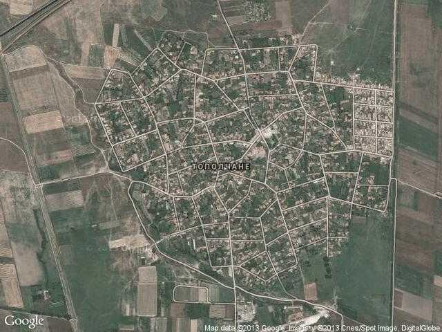 Сателитна карта на Тополчане