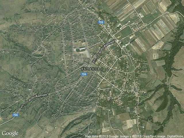 Сателитна карта на Ябланово