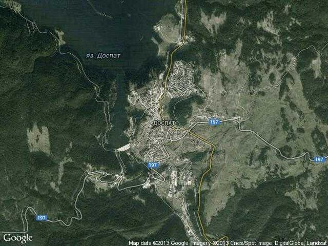 Сателитна карта на Доспат