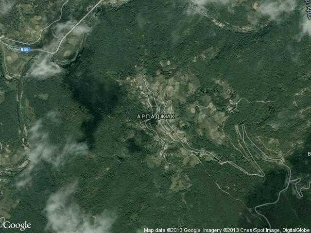 Сателитна карта на Арпаджик