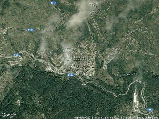 Сателитна карта на Баните