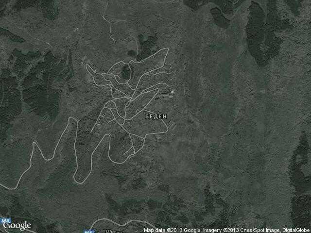 Сателитна карта на Беден