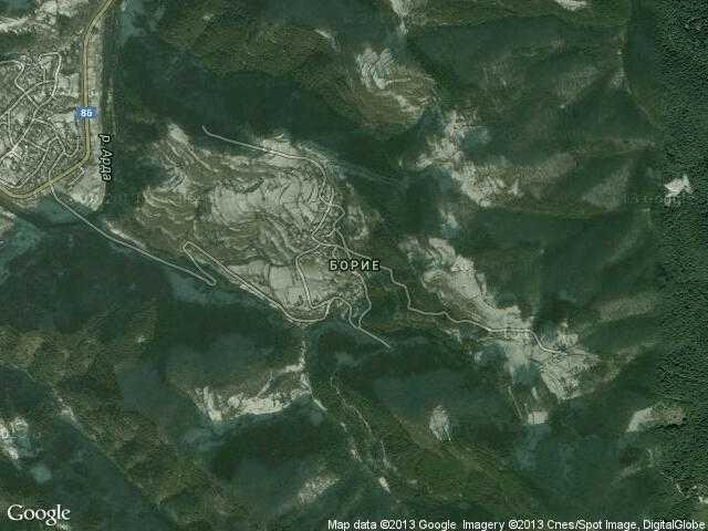 Сателитна карта на Борие