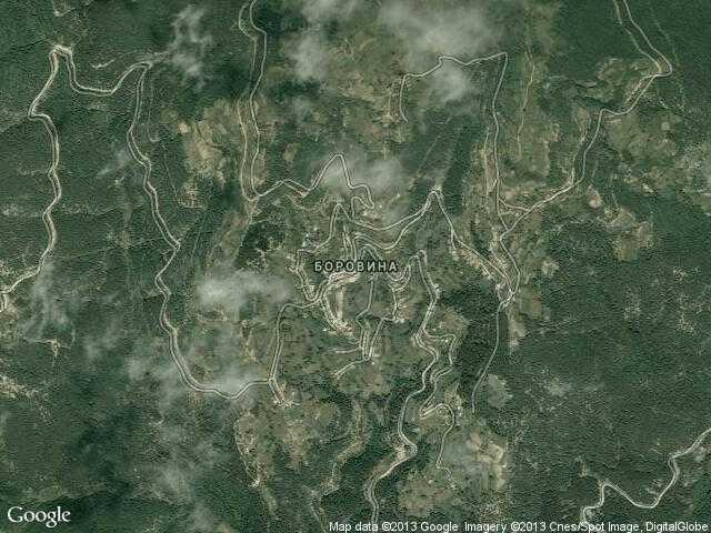 Сателитна карта на Боровина