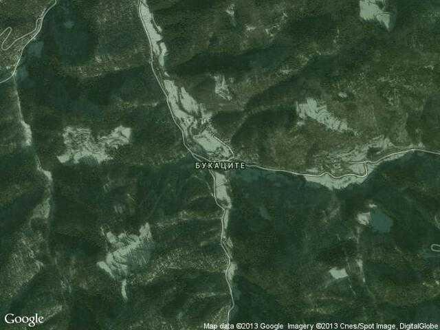 Сателитна карта на Букаците