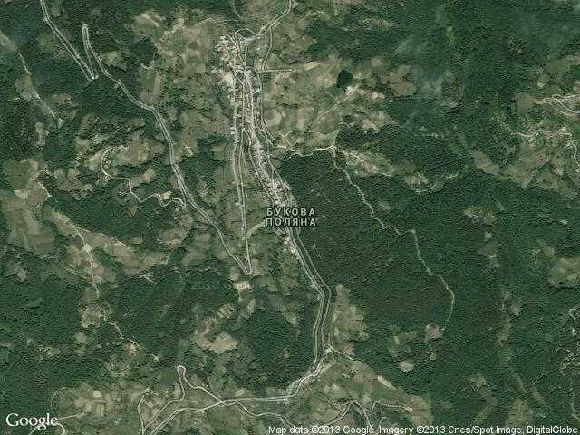 Сателитна карта на Букова поляна
