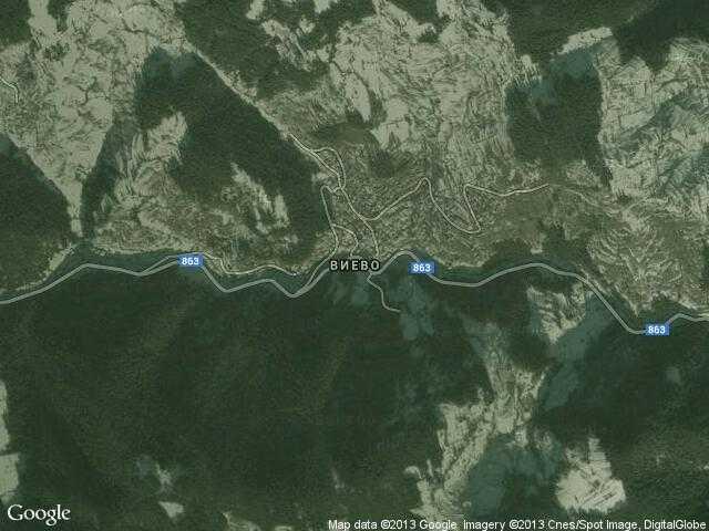 Сателитна карта на Виево