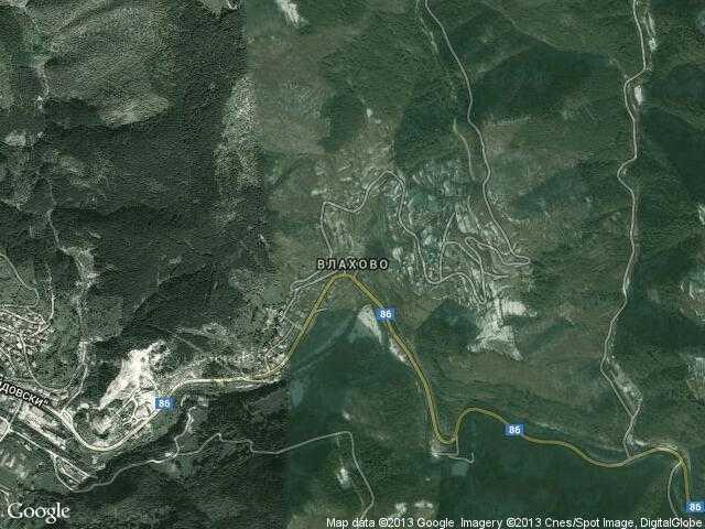 Сателитна карта на Влахово