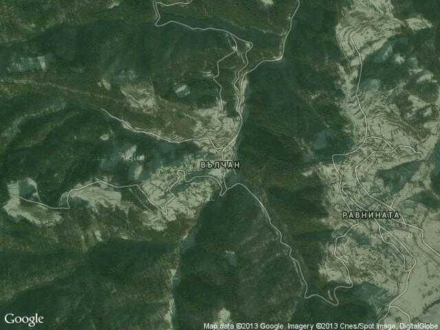 Сателитна карта на Вълчан