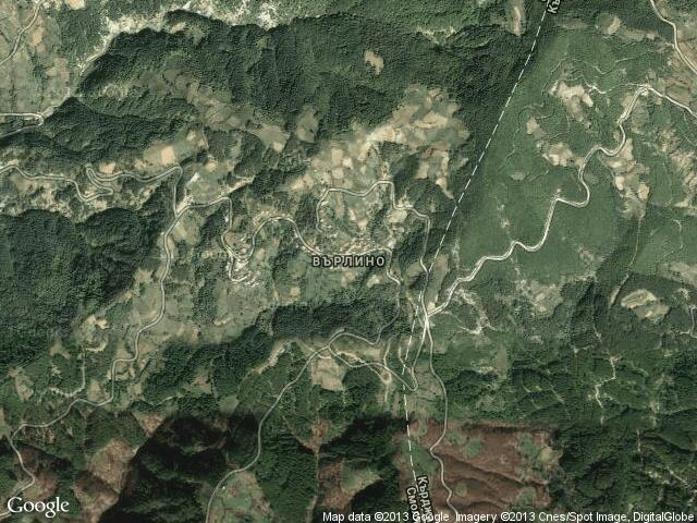 Сателитна карта на Върлино