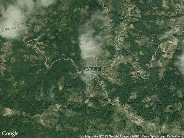 Сателитна карта на Галище