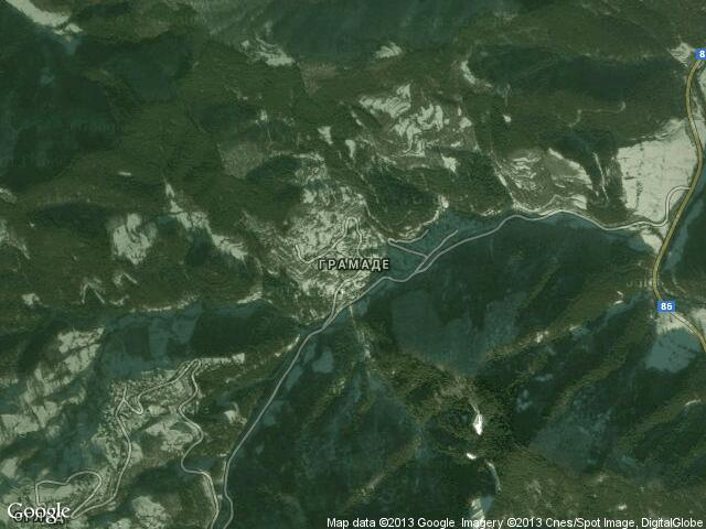 Сателитна карта на Грамаде