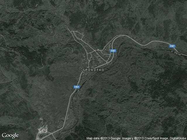 Сателитна карта на Грохотно