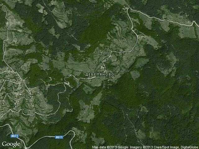 Сателитна карта на Дебеляново