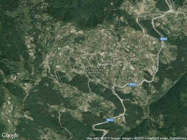 Сателитна карта на Дрянка