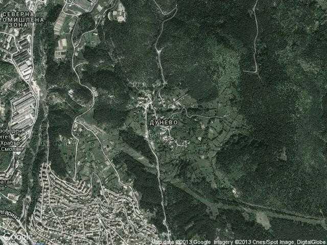 Сателитна карта на Дунево