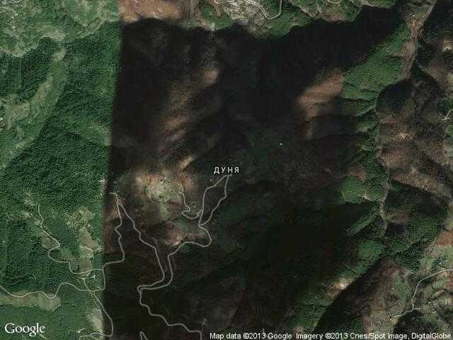 Сателитна карта на Дуня