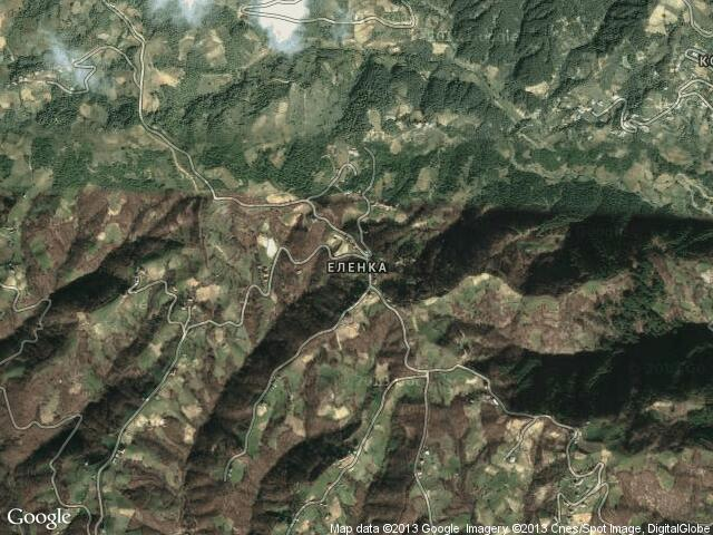 Сателитна карта на Еленка