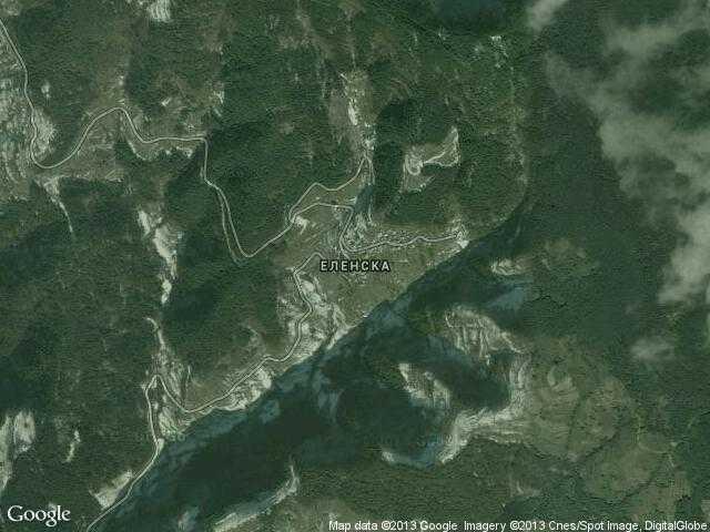 Сателитна карта на Еленска