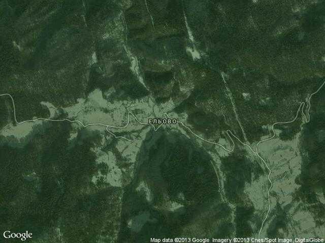 Сателитна карта на Ельово