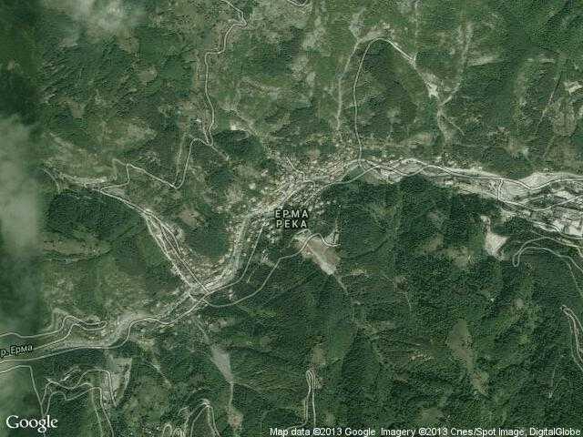 Сателитна карта на Ерма река