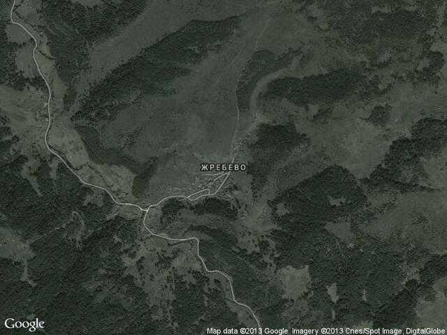 Сателитна карта на Жребево