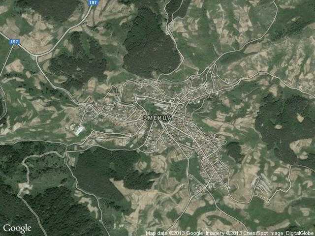 Сателитна карта на Змеица