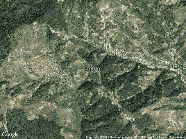 Сателитна карта на Изгрев