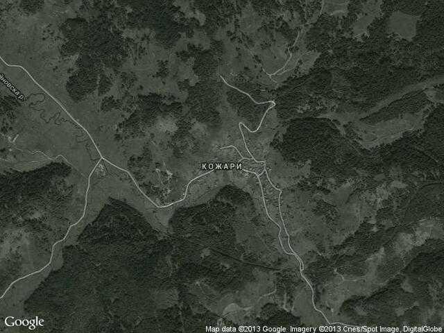 Сателитна карта на Кожари