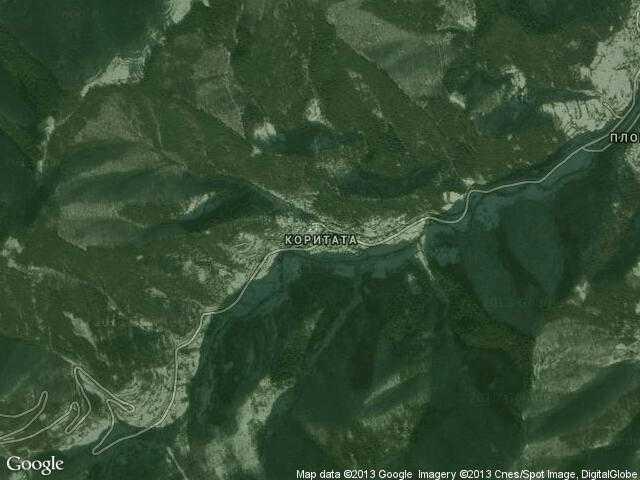 Сателитна карта на Коритата