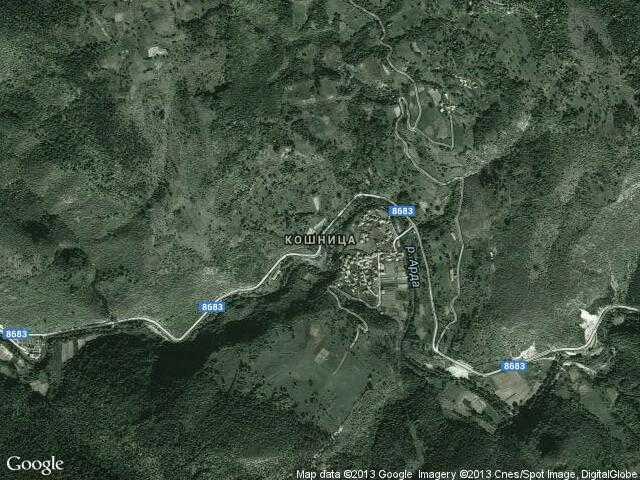 Сателитна карта на Кошница