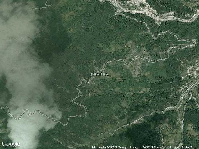 Сателитна карта на Крайна