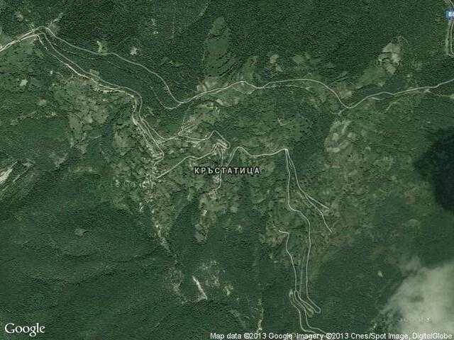 Сателитна карта на Кръстатица