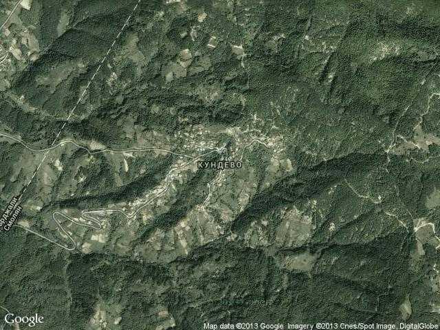 Сателитна карта на Кундево
