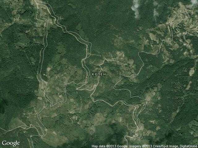 Сателитна карта на Купен