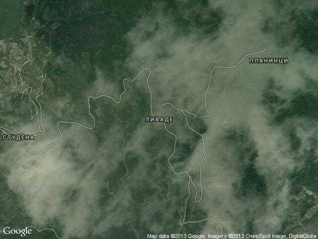 Сателитна карта на Ливаде
