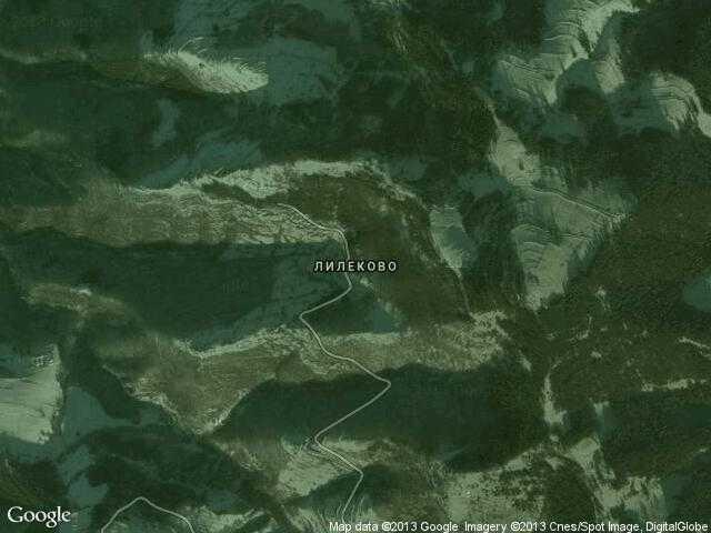 Сателитна карта на Лилеково